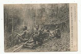 Cp , AFRIQUE EQUATORIALE FRANCAISE , Chemin De Portage Aménagé En 1925-26 , Vierge - Congo - Brazzaville