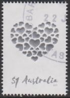 AUSTRALIA - USED 2017 $1.00 Special Occasions - Embossed Heart - 2010-... Elizabeth II