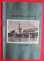 01 Barrage De Jons 01 Nievroz 2 Photos 1936-1937l éditeur Entreprise Industrielle Paris - Places