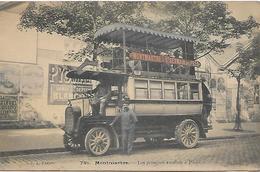 Carte Postale - MONTMARTRE ( 18è ) Les Premiers Autobus à Paris - G.C.A. 791 - - Openbaar Vervoer
