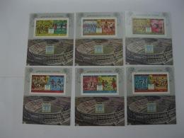 Comoros 1978 World Cup Football MICHEL No.BL117-BL122  6 MS - Komoren (1975-...)