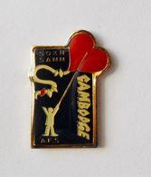 Pin's Humanitaire Cambodge Sokn Sann - A40 - Badges