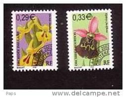 FRANCE 2002-PREO N°244/245** FLEURS ORCHIDEES - Preobliterati