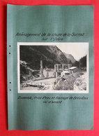 73 RARE Tignes Les Brévières Construction Barrage 2 Photos 1934-1936 éditeur Entreprise Industrielle Paris - Other Municipalities
