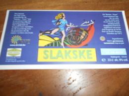 ETIQUETTE BIERE SLAKSKE - Bière