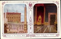 Passepartout Cp Roma Rom Lazio, Palace Of The Vatican, Throne Room - Roma