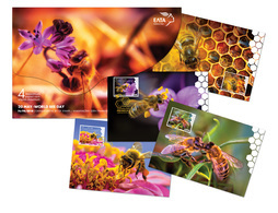 GREECE MAXIMUM CARDS 2018/20 MAY WORLD BEE DAY  (1000pcs Numbered)-  20/5/18-COMPLETE SET - Cartes-maximum (CM)