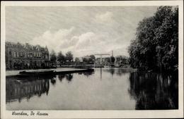 Cp Woerden Utrecht Niederlande, De Haven, Uferpartie, Schiffsbrücke - Non Classés