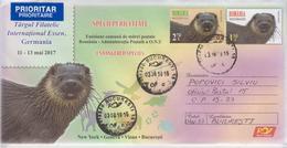 ROMANIA: FAUNA Circulated Postal Stationery Cover & Adhesive Stamp - Registered Shipping! Envoi Enregistre! - Emissioni Congiunte