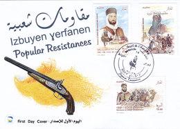 Algeria 2018 Popular Resistance 3values Complete Seton Official FDC- SKRILL PAYMENT ONLY - Algeria (1962-...)