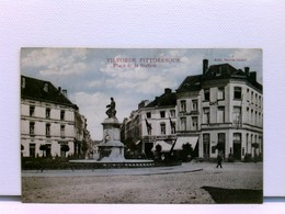 Seltene AK Vilvorde Pittoresque, Place De La Station; Mit Vielen Geschäften Und Passanten; Coloriert; Feldpost - Pays-Bas