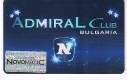 BULGARIA KEY CASINO Admiral Club  - SOFIA - Casino Cards