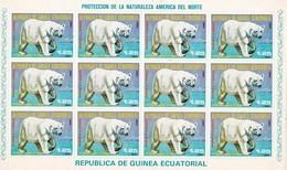 Guinea Ecuatorial Nº Michel 1239 En Hoja De 12 Sellos - Equatorial Guinea