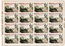Guinea Ecuatorial Nº Michel 1394 En Hoja De 16 Sellos - Equatorial Guinea