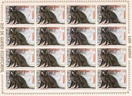 Guinea Ecuatorial Nº Michel 1397 En Hoja De 16 Sellos - Equatorial Guinea