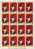 Guinea Ecuatorial Nº Michel 1399 En Hoja De 16 Sellos - Equatorial Guinea