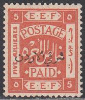 JORDAN    SCOTT NO 5B     MINT HINGED      YEAR  1920      PERF- 14X14 - Jordan