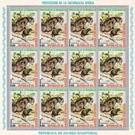 Guinea Ecuatorial Nº Michel 476 En Hoja De 12 Sellos - Equatorial Guinea