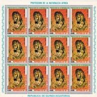 Guinea Ecuatorial Nº Michel 477 En Hoja De 12 Sellos - Equatorial Guinea