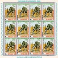 Guinea Ecuatorial Nº Michel 480 En Hoja De 12 Sellos - Equatorial Guinea