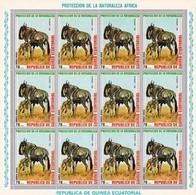 Guinea Ecuatorial Nº Michel 481 En Hoja De 12 Sellos - Equatorial Guinea