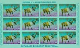 Guinea Ecuatorial Nº Michel A1241 En Hoja De 12 Sellos SIN DENTAR - Equatorial Guinea