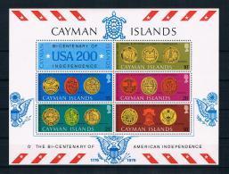 Kaimaninseln 1976 200 Jahre Vereinigte Staaten Block 10 ** - Cayman Islands