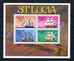 St. Lucia 1976 Schiffe Block 86 ** - St.Lucia (1979-...)