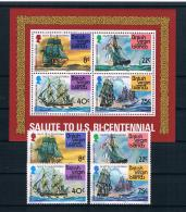 British Virgin Islands 1976 Schiffe Mi.Nr. 309/12 Kpl. Satz + Block 7 ** - British Virgin Islands