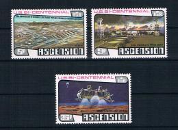 Ascension 1976 200 Jahre Vereinigte Staaten Mi.Nr. 215/17 Kpl. Satz ** - Ascension