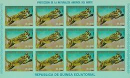 Guinea Ecuatorial Nº Michel A1243 En Hoja De 12 Sellos SIN DENTAR - Equatorial Guinea