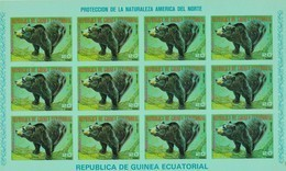 Guinea Ecuatorial Nº Michel A1244 En Hoja De 12 Sellos SIN DENTAR - Equatorial Guinea