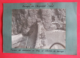 38 Barrage De L'Avignonet Travaux 1936 & Feeder Usine La Mouche Villeurbanne 2 Photos éd Entreprise Industrielle Paris - Places