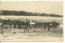 70 - HERICOURT / 4è REGIMENT D'ARTILLERIE - CHEVAUX AU BIVOUAC - Sin Clasificación