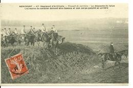 70 - HERICOURT / 47è REGIMENT D'ARTILLERIE - TRAVAIL DE CARRIERE - Frankrijk