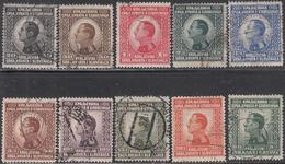 YUGOSLAVIA     SCOTT NO  29-38      USED      YEAR  1924 - Used Stamps