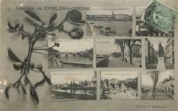 CARTE MULTIVUES SOUVENIR DE CHALON SUR SAONE - Chalon Sur Saone