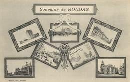 CARTE MULTIVUES  SOUVENIR DE HOUDAN - Houdan