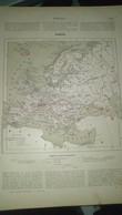 Affiche (dessin) - Carte Géographique - L' EUROPE - Afiches