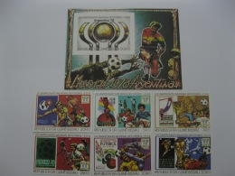 Guinea Bissau 1978 World Cup Football MICHEL No.464-469 ,BL 89 Imperf - Coupe Du Monde