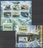 U583 2012 MOCAMBIQUE SHIPS & BOATS TITANIC 1SH+1BL MNH - Ships