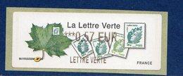 France 2011.Lisa Feuille De Platane Lettre Verte** - 2010-... Vignettes Illustrées