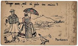 Markovac 1908. Circulated - Temes Kutas - Serbia - Hand Designed - Mega Rare - Signature Of Author - Art Postcard - Serbia