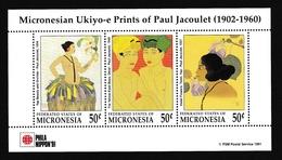 Micronésie1991XxNus Féminins - Peinture - Paul Jacoulet - Phila NipponY&TBF 11 - Micronésie