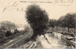 54 FROUARD  La Ligne De Paris - Le Canal Et La Moselle - Frouard