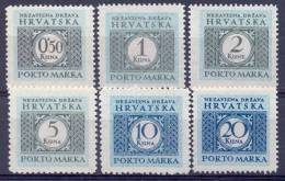 HR 1942-P03 PORTOMARKEN, CROATIA-HRVATSKA, Michel # Mi P 11-6, MNH - Kroatien