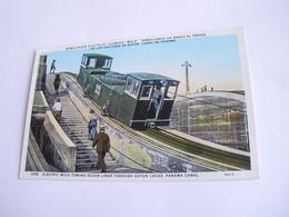 America - Eletric Mule Towing Ocean Liner Through Gatun Locks Panama Canal + Treno - Panama