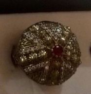 Anello Vintage Di Bigiotteria Con Cristalli E Pietre Dell'epoca - Idea Regalo Anni 70 - Anelli