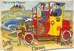 33-CLAOUEY- CARTE A SYSTEME- PAS SI VITE CELENTIN OUBREZ LE TACOT POUR VOIR - France