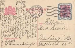 PAYS-BAS 1921 ENTIER POSTAL CARTE DE ROTTERDAM - Entiers Postaux